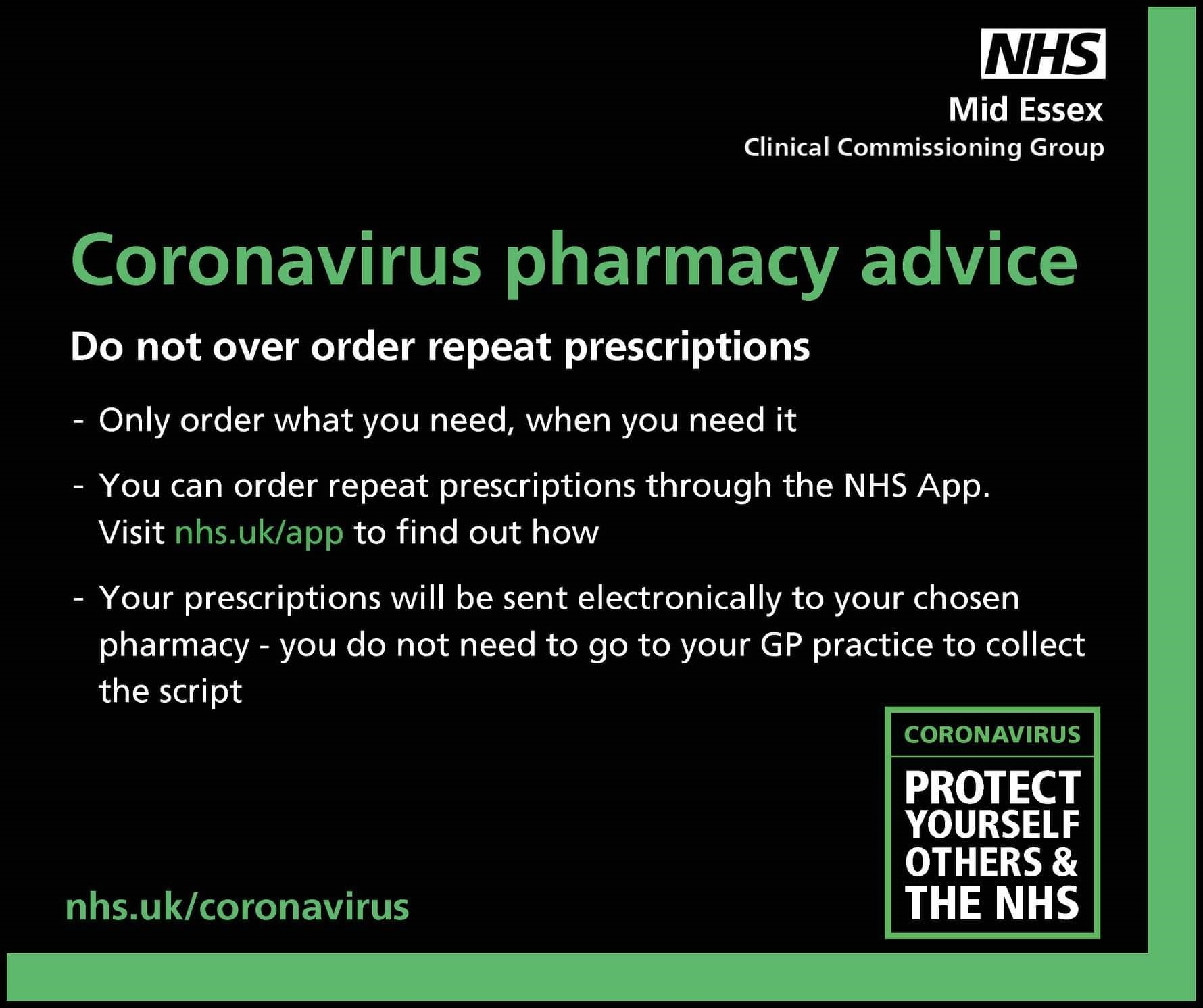 MID ESSEX CCG PHARMACY ADVICE